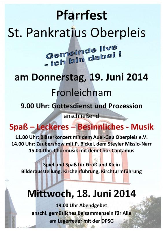 Pfarrfest 2014 Plakat